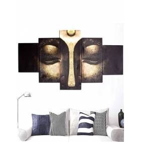 Newchic 5Pcs Wall Abstract Art Print Canvas Painting Buddha Picture Unframed Home Decor