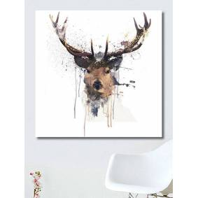 Newchic Abstract Elk Head Canvas Painting Wall Art Bedroom Living Room Home Decor