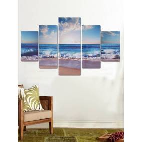 Newchic 5Pcs Sea Landscape Canvas Painting Unframed Wall Art Bedroom Living Room Home Decor