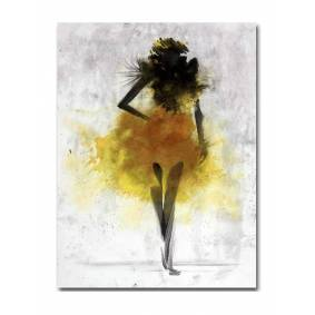 Newchic Fashion Girl Minimalist Abstract Art Canvas Poster Painting Modern Decor