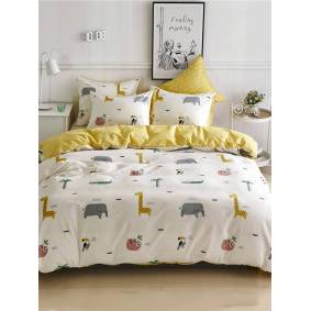 Newchic Printed Kit Bedding Cotton Three-Piece Home Textile Bedding