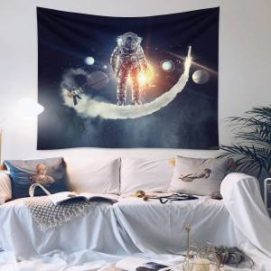 Newchic Astronaut Tapestry Wall Psychedelic Tapestry Bedroom Home Curtain Tapestry Wall Tapestry