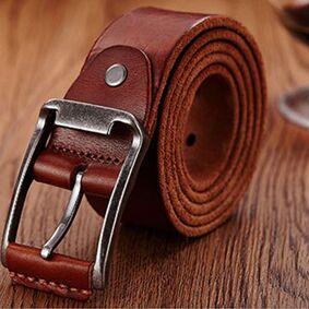 Newchic Genuine Leather Men's Belt Casual Waistband Waist Strap Smooth