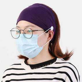 Newchic Button Prevent Ear Injury Headband Sports Band Mountable Ears