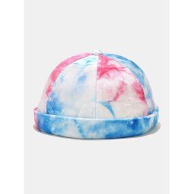 Newchic Unisex Velvet Tie-dye Skull Cap