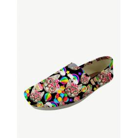 Newchic Square Toe Canvas Loafers Shoes