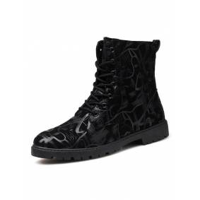 Newchic Men Stylish Lace-up Tooling Boots
