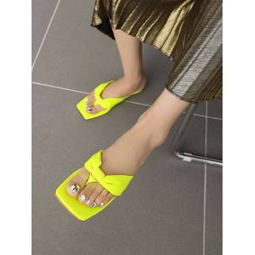 Newchic Sweet Pleated Square Clip Toe Slippers