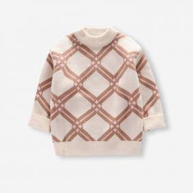 Newchic Kid's Geometric Print Casual Sweater For 4-11Y