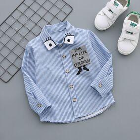 Newchic Striped Shirt Thin Long-sleeved Cotton Boy Shirt