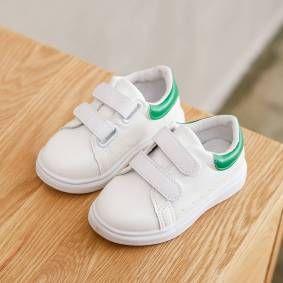 Newchic Unisex Kids Casual Comfy Classic Low Top White Sneakers