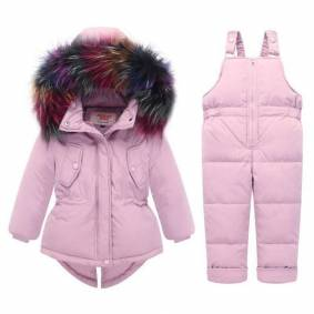 Newchic Thick Warm Unisex Baby Down Snow Outerwear Clothing Set For 0-36M