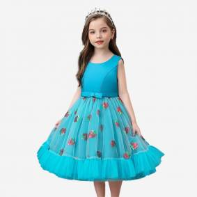 Newchic Girl's Strawberry Sequin Tulle Princess Wedding Birthday Dress For 4-12Y