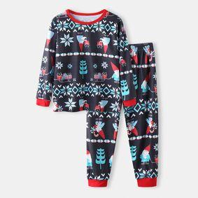 Newchic Kid's Christmas Print Pajama Set For 2-10Y