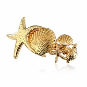 Newchic Cute Hairpin Accessories Starfish Conch Decorative Silver Gold Hair Pins Fashion Jewelry for Women