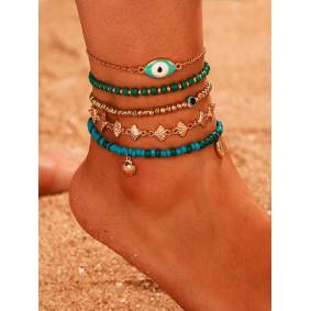 Newchic Shell Tassel Multi-layer Anklet