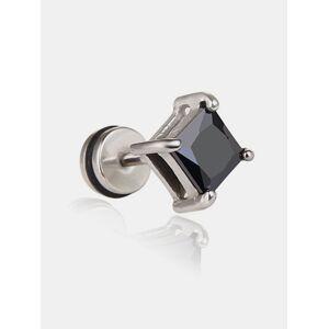 Newchic Fashion Ear Stud Earrings Square Geometric Zircon Titanium Steel Earrings Jewelry for Women Men
