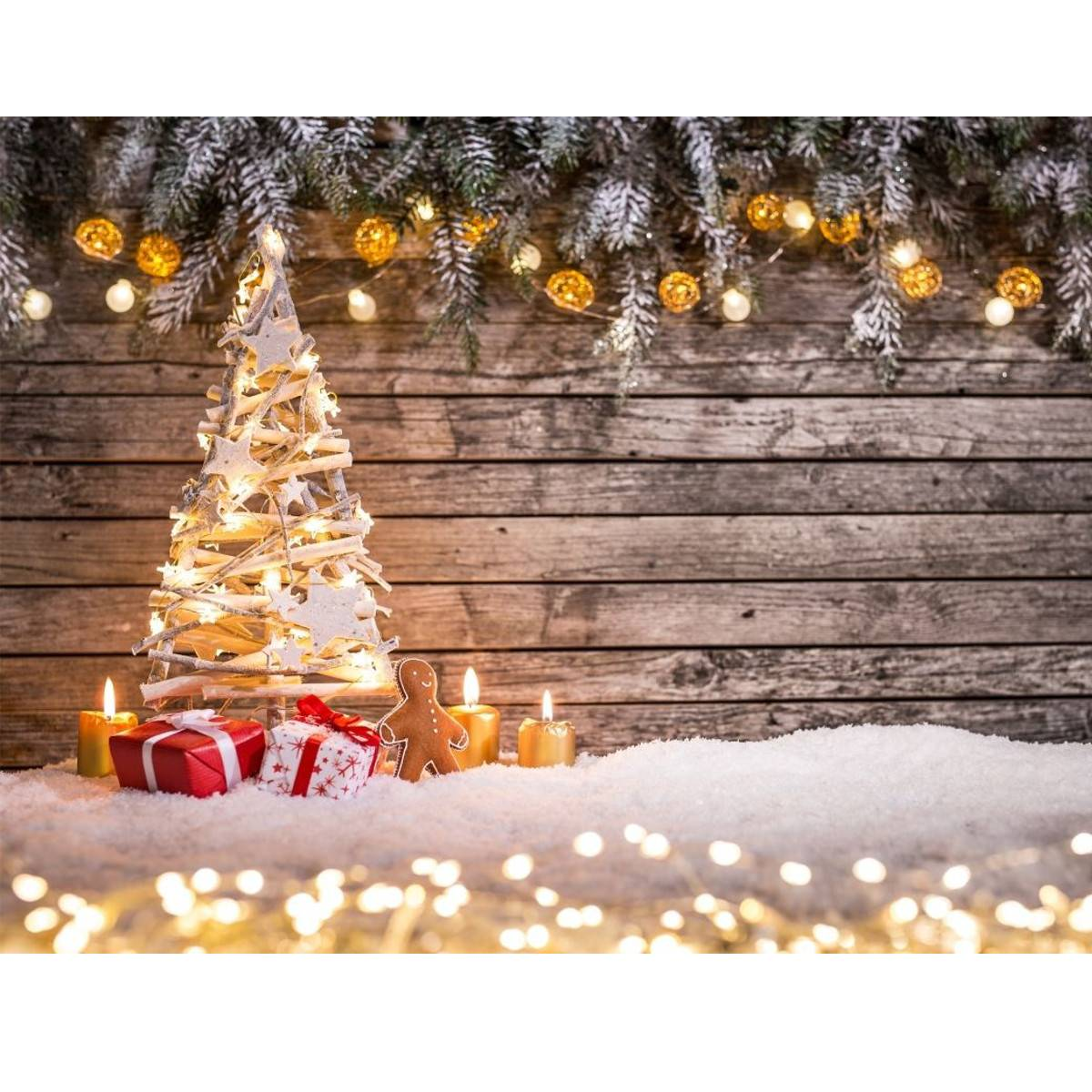 Newchic 7x5FT Christmas Photography Background Props Studio Vinyl Home