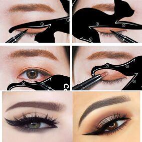 Newchic Cat Eye Eyeliner Stencil Makeup Eyes Liner Stencil Models Eyeshadow Template Shaper Tool