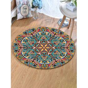 Newchic Vintage Turkish Bohemian Mandala Round Thin Flat Carpet Rug Home Bedroom Washable Carpets Art Decor