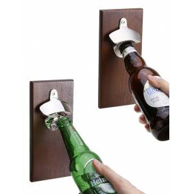 Newchic Beer Bottle Opener Wall-Mounted Wall Opener Refrigerator Stickers Kitchen Tools