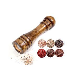 Newchic Oak Grinder Pepper Mill Hand Pepper Grinder Multi-Seasoning Bottle Kitchen Tool