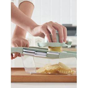 Newchic Vegetable Cutter With Steel Blade Mandoline Slicer Potato Peeler Garlic Grater Kitchen Tools