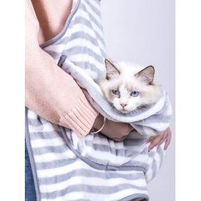Newchic Coral Velvet Pet Cat Pocket Blanket Apron Warm Kitten Carrier Apron Clothing