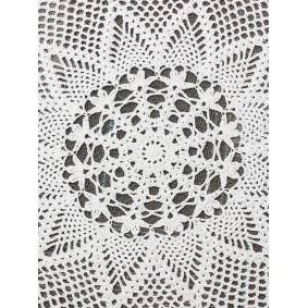 Newchic 60cm Handmade Crochet Lace Placemat Doilies Cotton Round White Tablecloth Home Decor
