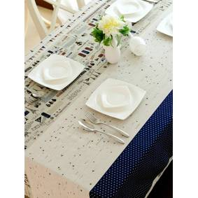 Newchic Aircraft Pattern Cotton Linen Tableware Mat Table Runner Tablecloth Desk Cover Heat Insulation Bowl