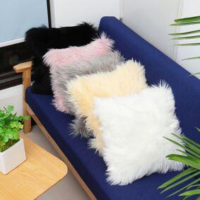Newchic 40x40 Faux Wool Fur Cushion Cover