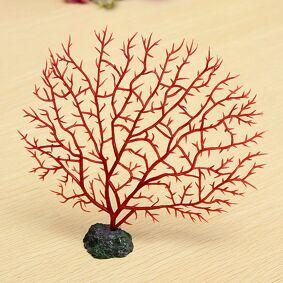 Newchic Red Anemone Coral Soft Fish Aquarium Decoration Artificial Aquatic Simulation