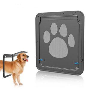 Newchic Large Medium Dog Cat Pet Door Screen Window ABS Magnetic Auto Lock Flaps