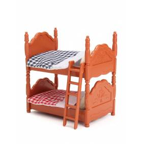 Newchic Wooden Double Bed Furniture Doll House Props