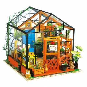 Topacc Cathy Flower Greenhouse DIY Doll House