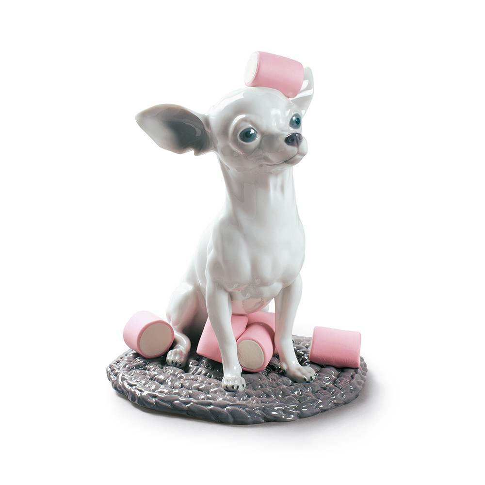 Lladro Chihuahua With Marshmallow