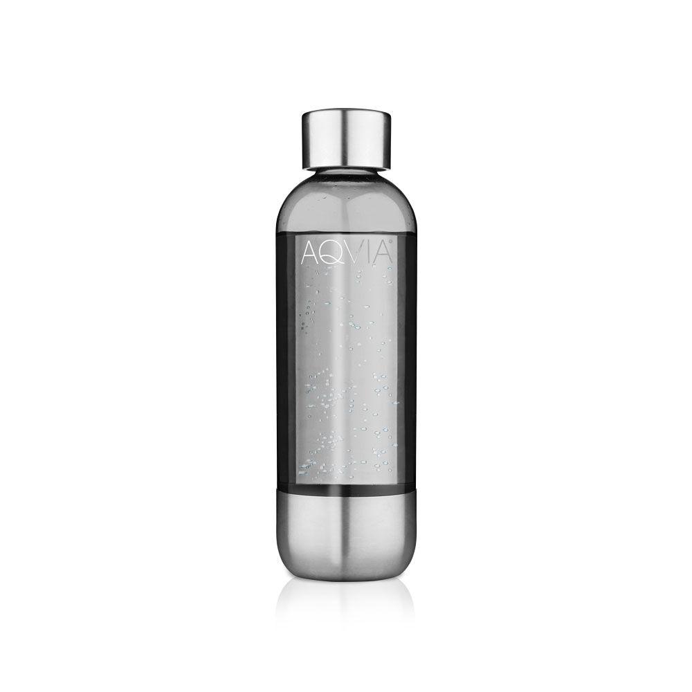 AGA Aqvia PET Bottle 1 L, Steel