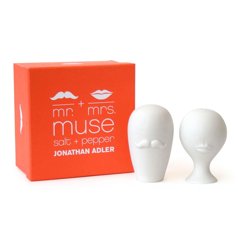 Jonathan Adler Mr. & Mrs. Muse Salt & Pepperkar, Hvit