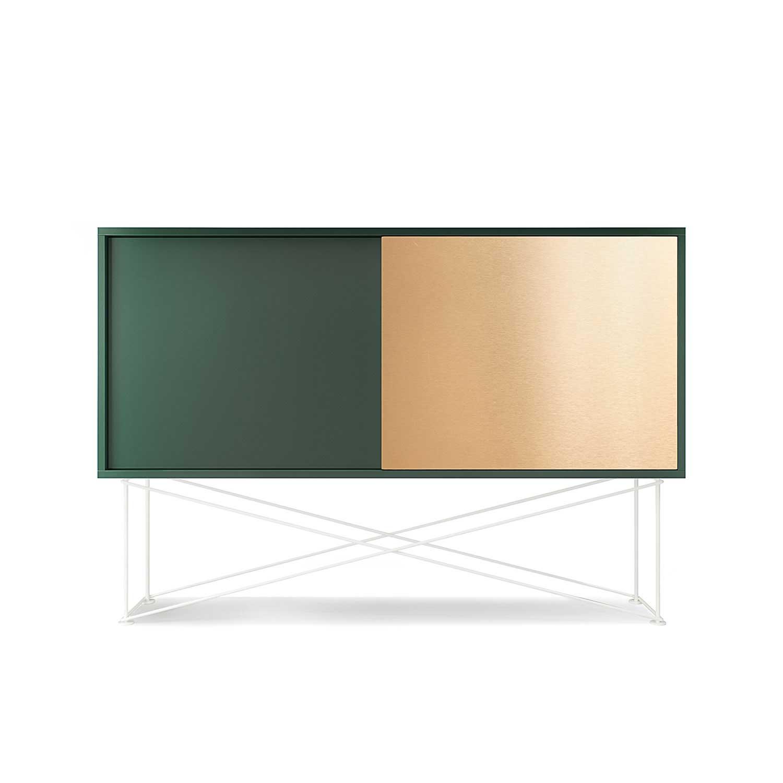 Decotique Vogue Sideboard 136H, Grønn/1G1B/Hvit