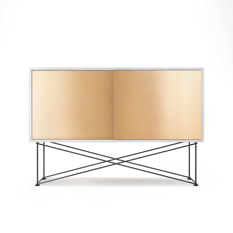 Decotique Vogue Sideboard 136H, Hvit/2B/Sort