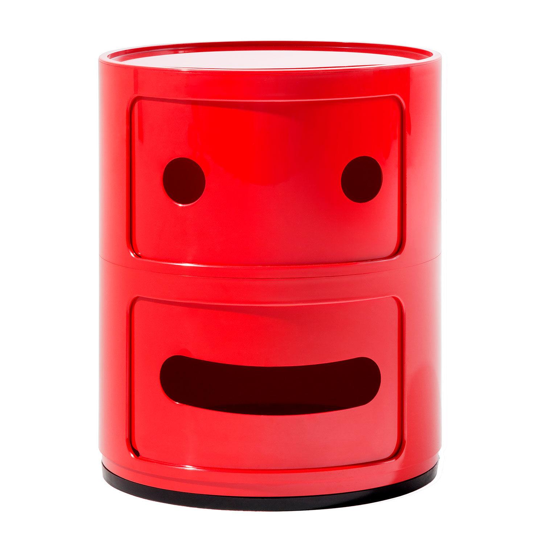 Kartell Componibili Smile Oppbevaring 2 Rom, Rød
