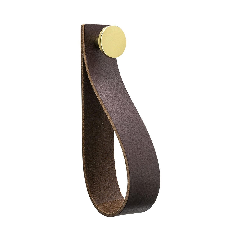 Beslag Design Loop Strap Krok, Brun/Messing