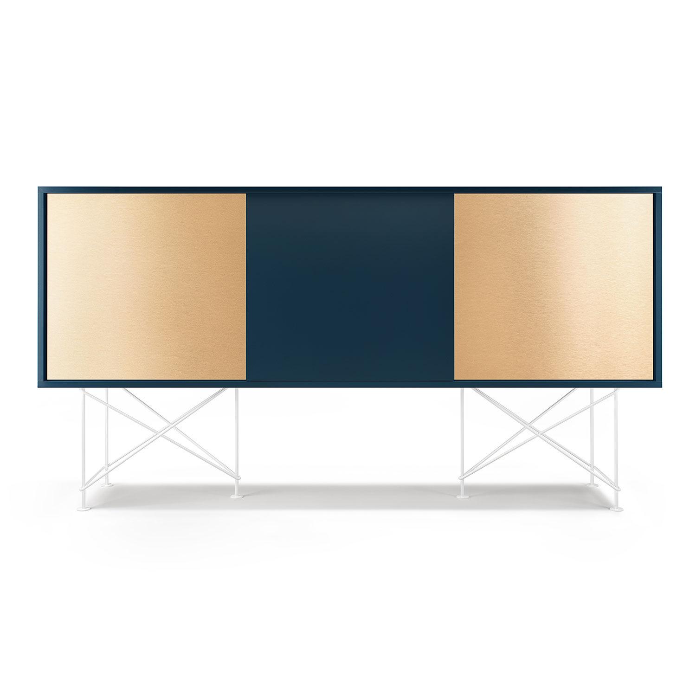 Decotique Vogue Sideboard 180H, Mørkeblå/1DB2B/Hvit