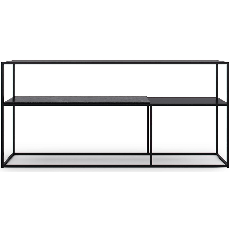 Decotique Marvelous Sideboard 163x75cm, Black/Black Marble