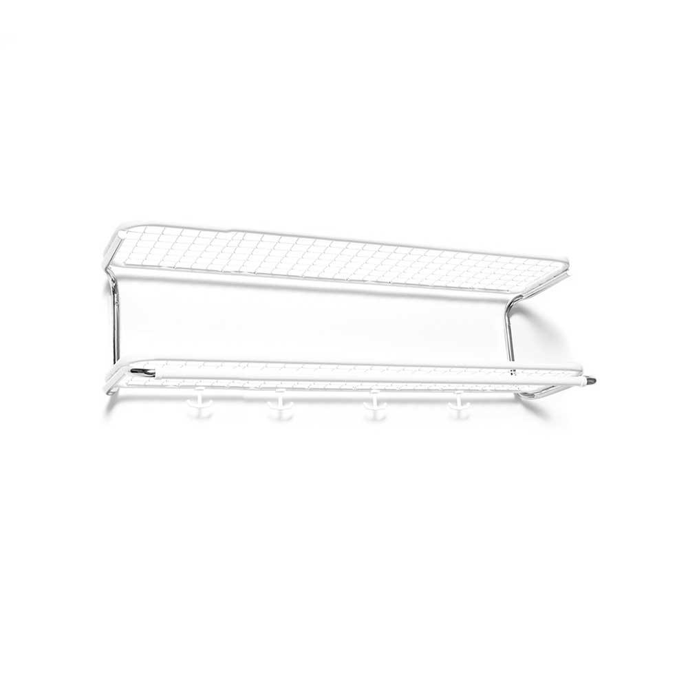 Essem Design Classic 650 Hattehylle 90 cm, Hvit/Krom