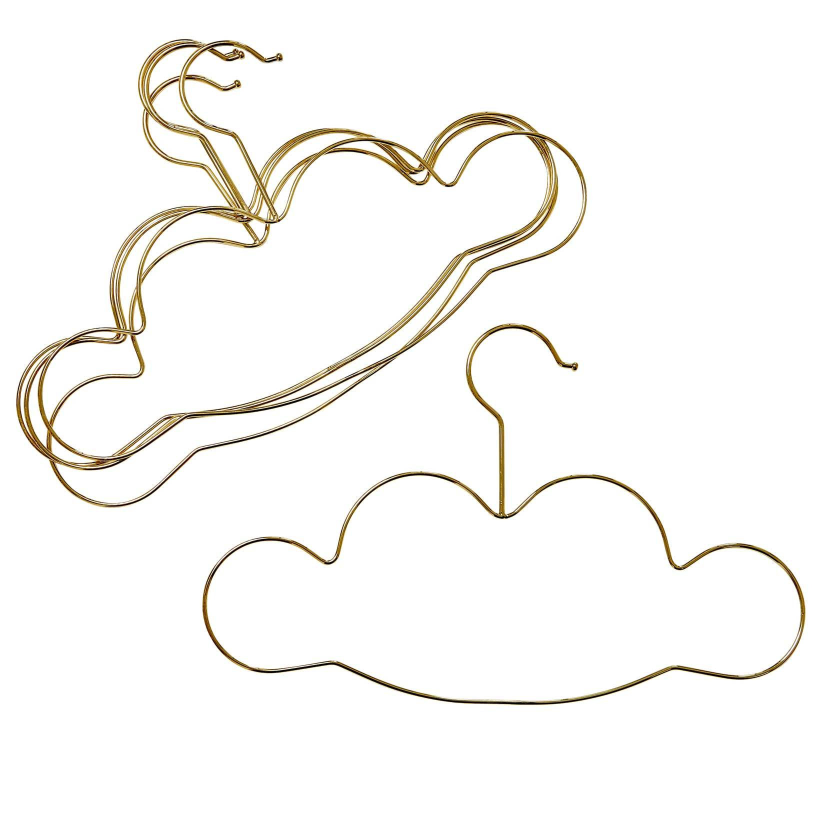 RICE Cloud Hangers for Kids 5-pack, Gold
