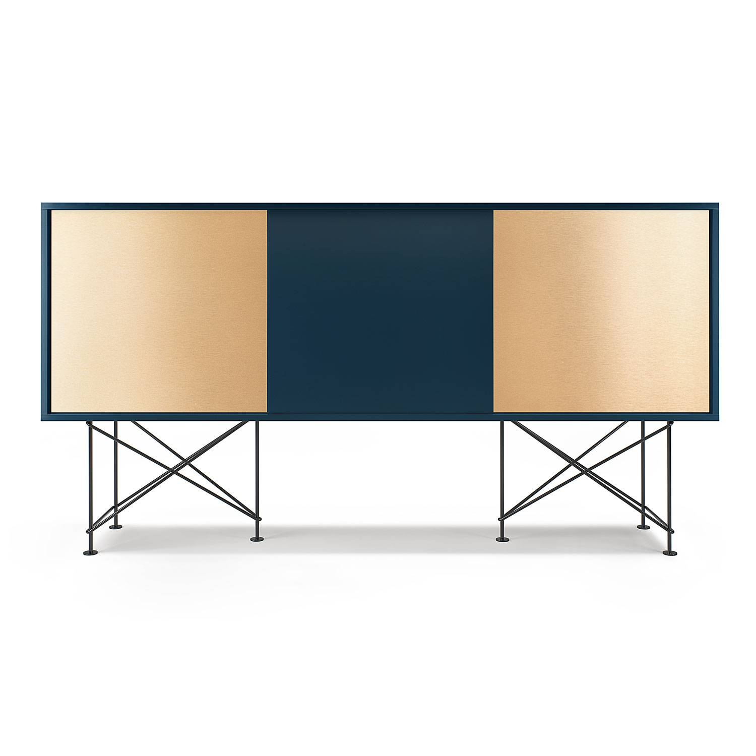 Decotique Vogue Sideboard 180H, Mørkeblå/1DB2B/Sort