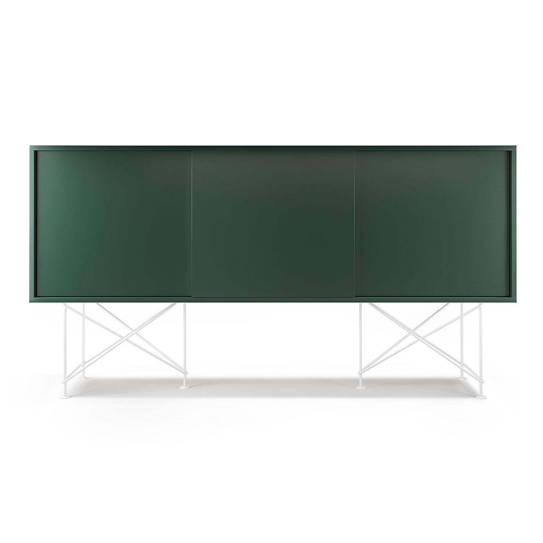 Decotique Vogue Sideboard 180H, Grønn/3G/Hvit