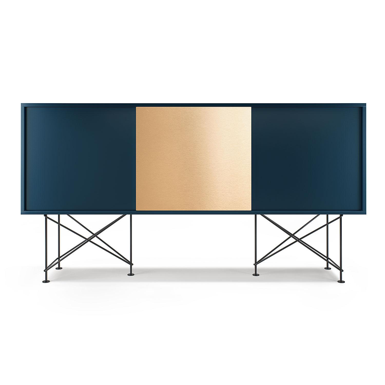Decotique Vogue Sideboard 180H, Mørkeblå/2DB1B/Sort