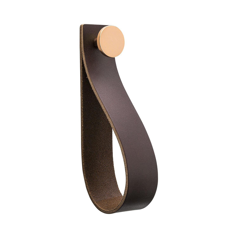 Beslag Design Loop Strap Krok, Brun/Kobber